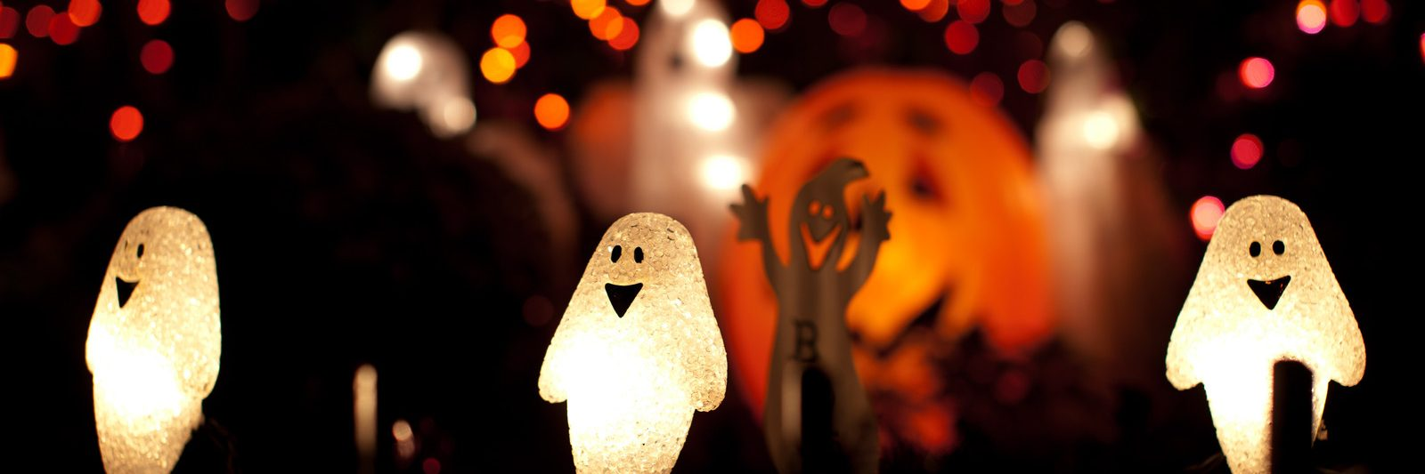 Ghost and pumpkin sting lights - Halloween Decoration -Things to do on Halloween San Diego