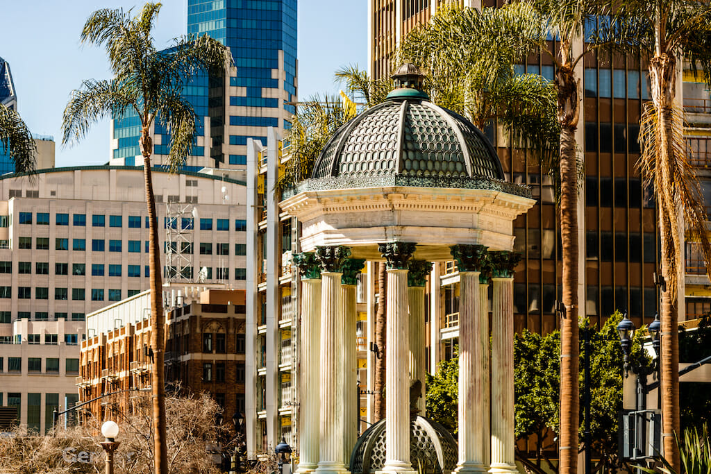 Downtown of San Diego, California on a beautiful summer day.