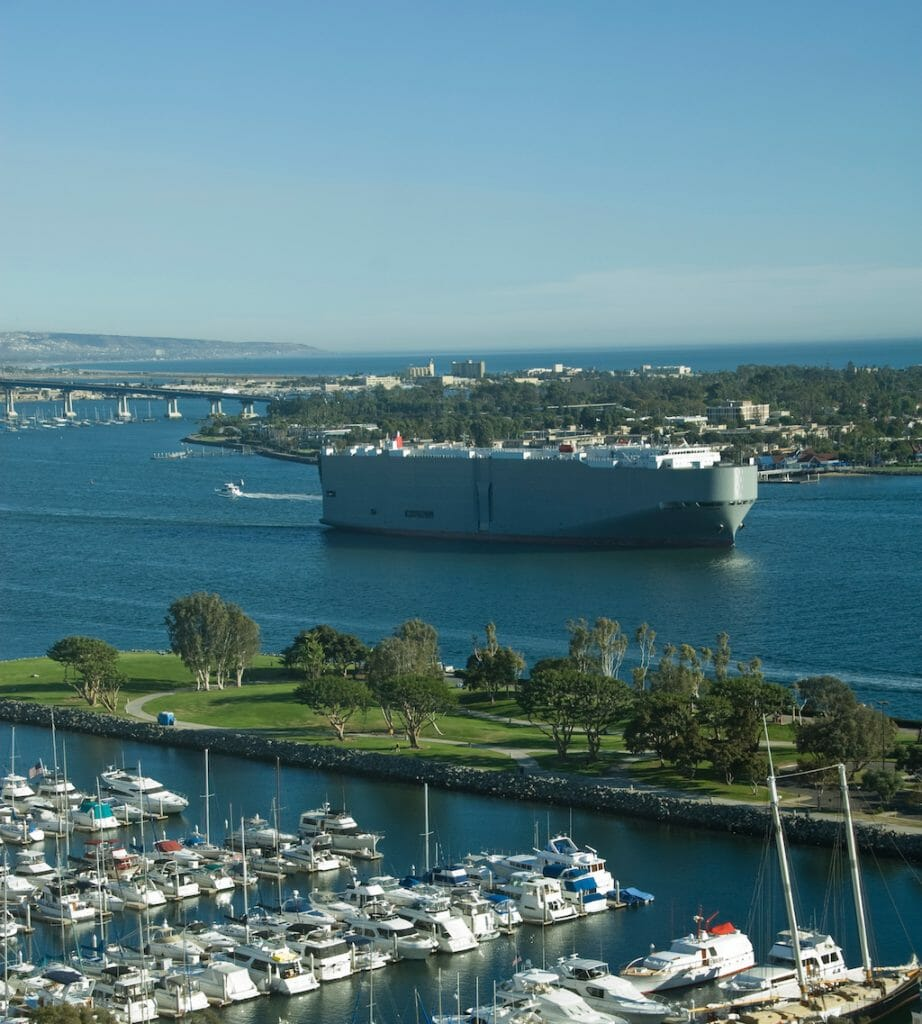 San Diego Marina with Coronado Mall in Background