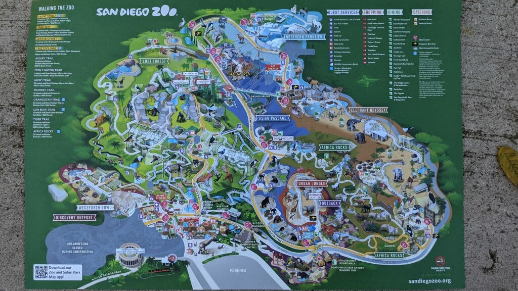 Picture of San Diego Zoo Map