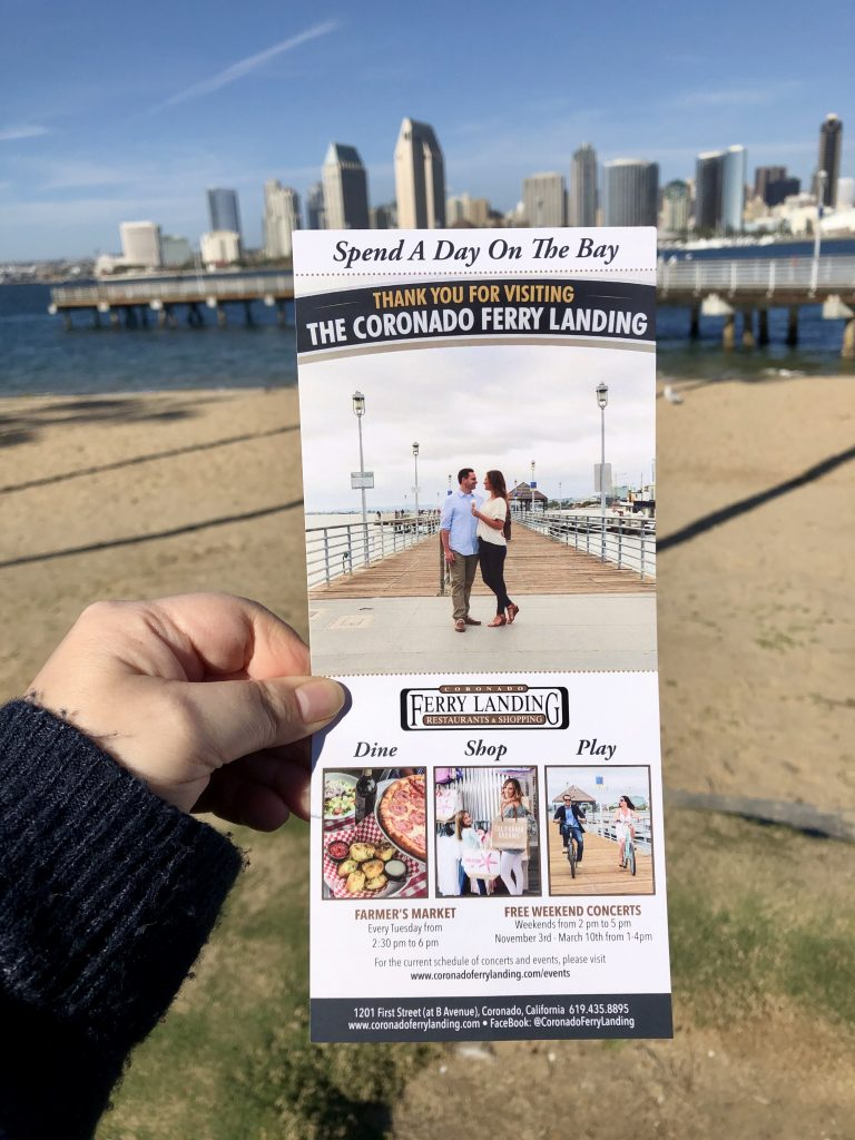 Flyer of Coronado Ferry Landing Shopping