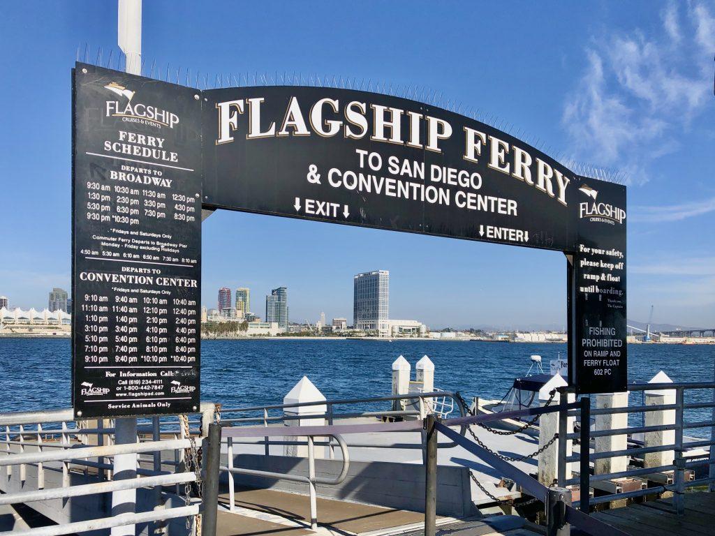 Flagship Entrance to Ferry Coronado Ferry Landing
