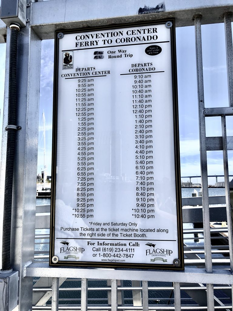 San Diego Ferry Schedule