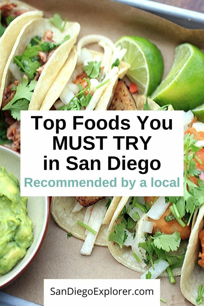 San Diego Food: Check this out to find out which foods you absolutely MUST try when visiting San Diego. From Thai to Mexican, pick your favorite must-try. #sandiegotrip #sandiegotravel #sandiegoitinerary #traveltips #travel #californiatrip #californiatravel #socallifestyle #socaltravel #sandiego #sandiegocalifornia #california #socal #southerncalifornia #foodinsandiego #tacotuesday #sandiegoexplorer
