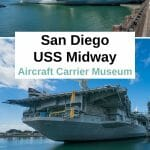 The USS Midway Museum should be on every San Diego Itinerary. If you love history, Top Gun and the Military, you have to add this top San Diego attraction to your San Diego Trip. #SanDiego #California #Socal #sandiegoexplorer #visitSandiego #military #navy #USSMidway #aircraftcarrier #history #USMilitary