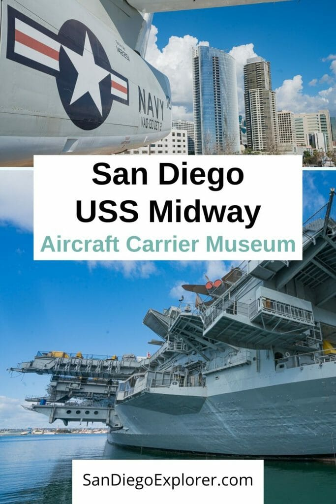 I live in San Diego and have been to the USS Midway multiple times. Here are my top tips to plan your visit to one of San Diego's top attractions. #sandiego #visitsandiego #california #sandiegoexplorer #navy #militaryhistory #history #sandiegotrip #sandiegoitinerary #sandiegotraveltips #traveltips San Diego Itinerary - San Diego Things To Do - San Diego Attractions - Downtown San Diego